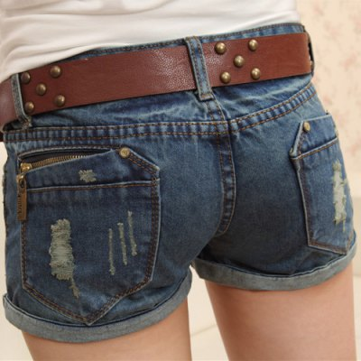 Casual Destroy Wash Slimming Denim Shorts For Women от GearBest.com INT