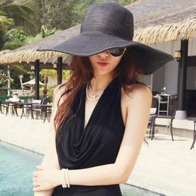 Candy Color Straw Hat For Women