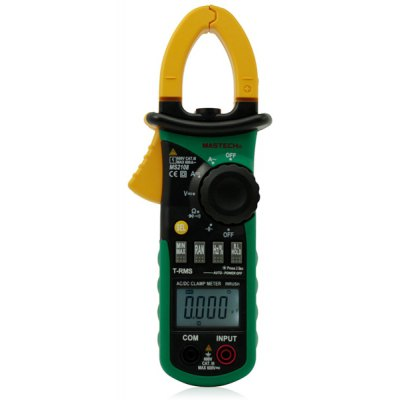 MASTECH MS2108 Digital Clamp Meter Inrush Current 6600 Counts True RMS Data Holding
