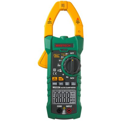 MASTECH MS2115A Digital Clamp Meter Inrush Current 6000 Counts True RMS Data Holding