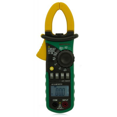 MASTECH MS2008A Auto Range Digital AC Clamp Meter 2000 Counts Ammeter Voltmeter Ohmmeter