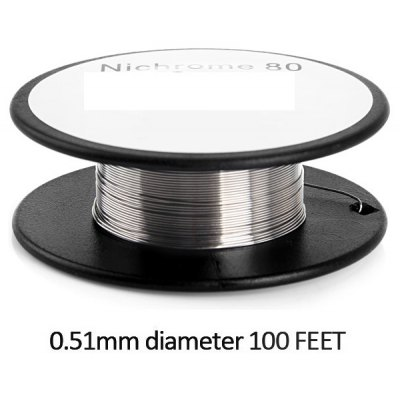 0.51mm Diameter 100 Feet Nichrome 80 Resistance Wire Roll