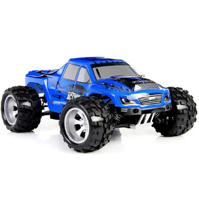 Wltoys A979 1/18 Scale Realistic 4WD 2.4GHz RC Truck Racing 50KMH High Speed Car ModelRC Cars<br>Wltoys A979 1/18 Scale Realistic 4WD 2.4GHz RC Truck Racing 50KMH High Speed Car Model<br><br>Brand: WLtoys<br>Car Power: 4394<br>Drive Type: 4 WD<br>Motor Type: Brushed Motor<br>Package Contents: 1 x Wltoys A979 RC Car, 1 x Transmitter, 1 x EU Charger, 1 x Transverter, 1 x English Manual<br>Package size (L x W x H): 32.00 x 23.00 x 25.00 cm / 12.6 x 9.06 x 9.84 inches<br>Package weight: 1.800 kg<br>Remote Control: 2.4GHz Wireless Remote Control<br>Transmitter Power: 4 x 1.5V AA (not included)<br>Type: Monster Truck
