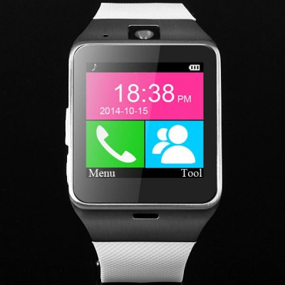 GV18 Aplus Smart Watch PhoneSmart Watch Phone<br>GV18 Aplus Smart Watch Phone<br><br>Type: Watch Phone<br>External Memory: TF card up to 32GB (not included)<br>Wireless Connectivity: Bluetooth<br>Network type: GSM<br>Frequency: GSM850/900/1800/1900MHz<br>Bluetooth: Yes<br>Screen size: 1.54 inch<br>Camera type: Single camera<br>SIM Card Slot: Single SIM(Micro SIM slot)<br>TF card slot: Yes<br>Speaker: Supported<br>Languages: English, Russian, Spanish, Portuguese, Turkish, Italian, French, German, Polish, Dutch<br>Note: If you need any specific language other than English and you must leave us a message when you checkout<br>Cell Phone: 1<br>Battery: 450mAh polymer battery x 1<br>USB Cable: 1<br>English Manual : 1<br>Product size: 23.50 x 3.95 x 1.23 cm / 9.25 x 1.56 x 0.48 inches<br>Package size: 13.50 x 7.30 x 5.80 cm / 5.31 x 2.87 x 2.28 inches<br>Product weight: 0.065 kg<br>Package weight: 0.195 kg