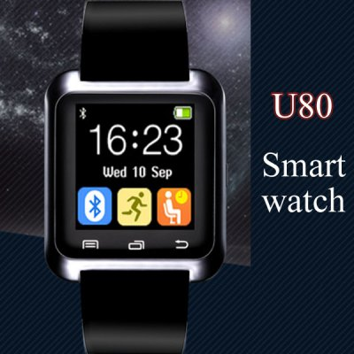 U80 Smart Bluetooth Watch Call Message Reminder Sleep MonitorSmart Watches<br>U80 Smart Bluetooth Watch Call Message Reminder Sleep Monitor<br><br>Bluetooth version: Bluetooth 3.0<br>Bluetooth calling: Call log sync,Phone call reminder,Phonebook<br>Messaging: Message reminder<br>Health tracker: Drinking reminder,Pedometer,Sedentary reminder,Sleep monitor<br>Remote Control: Camera remote,Music remote<br>Anti-lost: Yes<br>Other Functions: Alarm,Calculator,Calender,Stopwatch<br>Screen: LED<br>Screen size: 1.44 inch<br>Power: 180mAh<br>People: Unisex watch<br>Shape of the dial: Rectangle<br>Case material: Plastic<br>Band material: Rubber<br>Compatible OS: Android<br>Compatability: Android 3.0 and above system<br>Language: Czech,Dutch,English,French,German,Italian,Polish,Portuguese,Russian,Spanish,Turkish<br>Available color: Black,Red,White<br>The dial thickness: 1.1 cm / 0.43 inches<br>The dial diameter: 4.7 x 4.0 cm / 1.85 x 1.57 inches<br>Product size (L x W x H): 24.00 x 4.00 x 1.10 cm / 9.45 x 1.57 x 0.43 inches<br>Package size (L x W x H): 13.00 x 9.40 x 8.50 cm / 5.12 x 3.7 x 3.35 inches<br>Product weight: 0.030 kg<br>Package weight: 0.142 kg<br>Package Contents: 1 x Watch, 1 x Charging Cable, 1 x English Manual