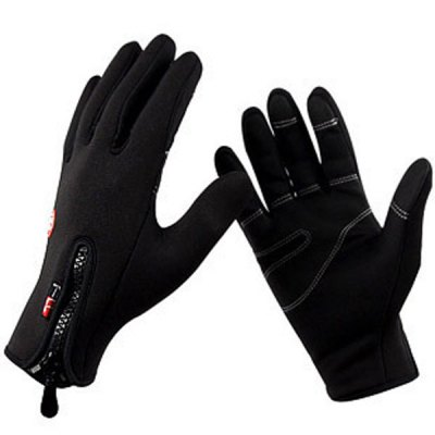 Paired FLL Winter Windproof Full-finger Cycling Gloves