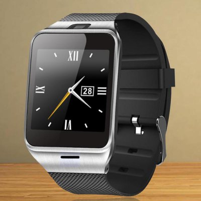 GV18 Aplus Smart Watch PhoneSmart Watch Phone<br>GV18 Aplus Smart Watch Phone<br><br>Type: Watch Phone<br>External Memory: TF card up to 32GB (not included)<br>Wireless Connectivity: Bluetooth<br>Network type: GSM<br>Frequency: GSM850/900/1800/1900MHz<br>Bluetooth: Yes<br>Screen size: 1.54 inch<br>Camera type: Single camera<br>SIM Card Slot: Single SIM(Micro SIM slot)<br>TF card slot: Yes<br>Speaker: Supported<br>Languages: English, Russian, Spanish, Portuguese, Turkish, Italian, French, German, Polish, Dutch<br>Note: If you need any specific language other than English and you must leave us a message when you checkout<br>Cell Phone: 1<br>Battery: 450mAh polymer battery x 1<br>USB Cable: 1<br>English Manual : 1<br>Product size: 23.50 x 3.95 x 1.23 cm / 9.25 x 1.56 x 0.48 inches<br>Package size: 13.50 x 7.30 x 5.80 cm / 5.31 x 2.87 x 2.28 inches<br>Product weight: 0.0650 kg<br>Package weight: 0.1950 kg