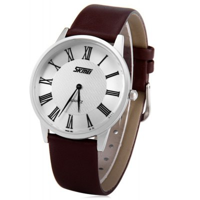 Skmei 9092 Men Japan Quartz Watch Water Resistant Ultra - thin Wristwatch