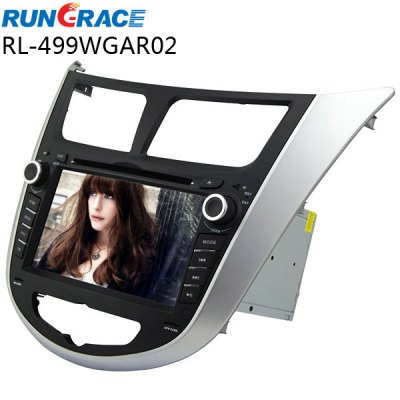 Rungrace RL - 499WGAR02 7 inch ISDB - T In - Dash Car DVD Player for Hyundai VernaCar DVD Player<br>Rungrace RL - 499WGAR02 7 inch ISDB - T In - Dash Car DVD Player for Hyundai Verna<br><br>Brand: Rungrace<br>Type: 2-DIN<br>Installation Site: In-Dash<br>Screen type: Digital touch screen<br>Screen size: 7inch<br>Screen resolution: 800 x 480<br>RAM (memory): DDR2 256M<br>DVD Video Format: AVI,MP4<br>USB/SD Video Format: AVI,MP4<br>DVD Audio Format: WMA,MP3<br>Picture format: JPEG<br>Media Format: CD,DVD-R/RW<br>OSD Language: English,French,Spanish,Portuguese,Russian,German,Italian,Turkish,Arabic,Hebrew,Chinese,Japanse<br>Product weight: 3.2000 kg<br>Package weight: 4.0500 kg<br>Product size (L x W x H): 24.00 x 26.50 x 10.00 cm / 9.45 x 10.43 x 3.94 inches<br>Package size (L x W x H): 46.00 x 26.00 x 33.00 cm / 18.11 x 10.24 x 12.99 inches<br>Package Contents: 1 x Host, 1 x Power Cable, 1 x GPS Antenna, 1 x Remote Control