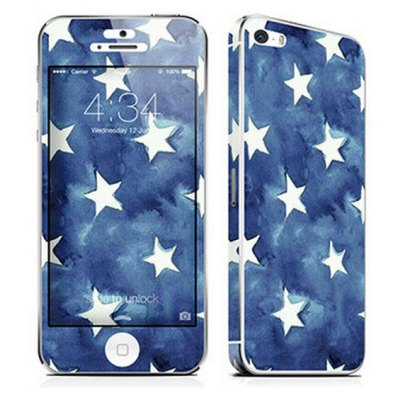 Cool Wallpaper Style Front + Back Body Sticker with Protective Skin for iPhone 5 / 5S