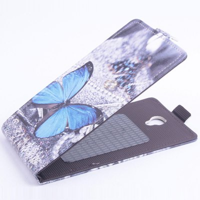 Vertical Painting Flip PU Protective Case for Elephone P6000 Smartphone
