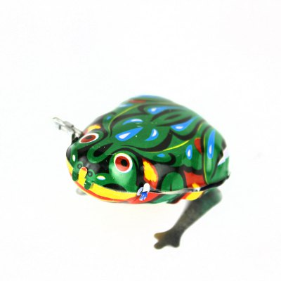 Spring Drive Jumping Frog Toy with Stainless Steel Material