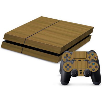 Waterproof Anti-dust Grain Pattern Stickers for PS4 Game Player Handle