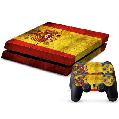 Waterproof Anti-dust National Flag Pattern Stickers for PS4 Game Player Handle