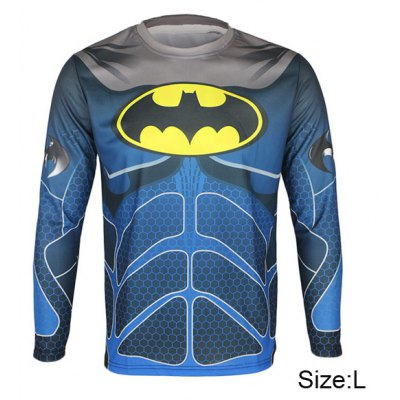 Arsuxeo Batman Style Thermal Transfer Cycling Jersey