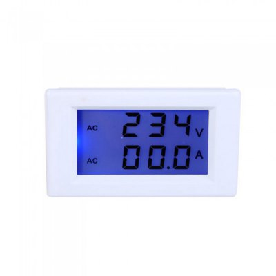 AC 80 - 300V 50A Dual LCD Display Digital Voltage Meter Ammeter with Current Transformer