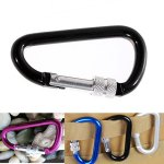 D - lock Carabiner Buckle Clip with Nut