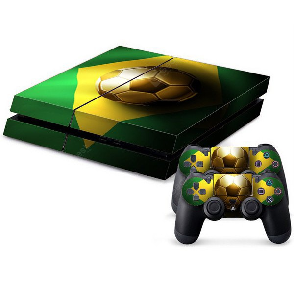 Waterproof Anti-dust Football Pattern Stickers for PS4 Game Player Handle