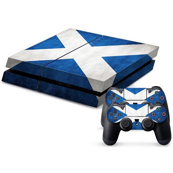Waterproof Anti-dust X Shape Pattern Stickers for PS4 Game Player Handle