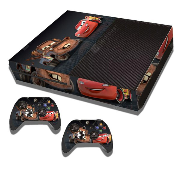 Lightning Mcqueen and Mater Style Game Console Gamepad Controller Stickers Skin for Xbox One