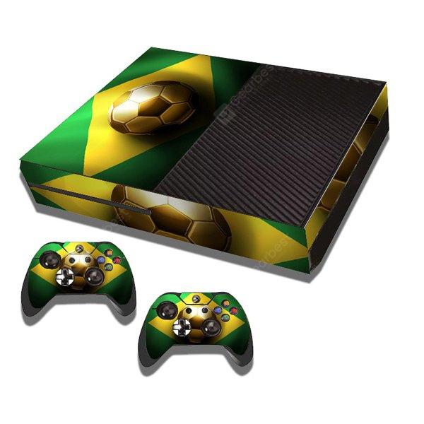 Football Style Game Console Gamepad Controller Stickers Skin for Xbox One