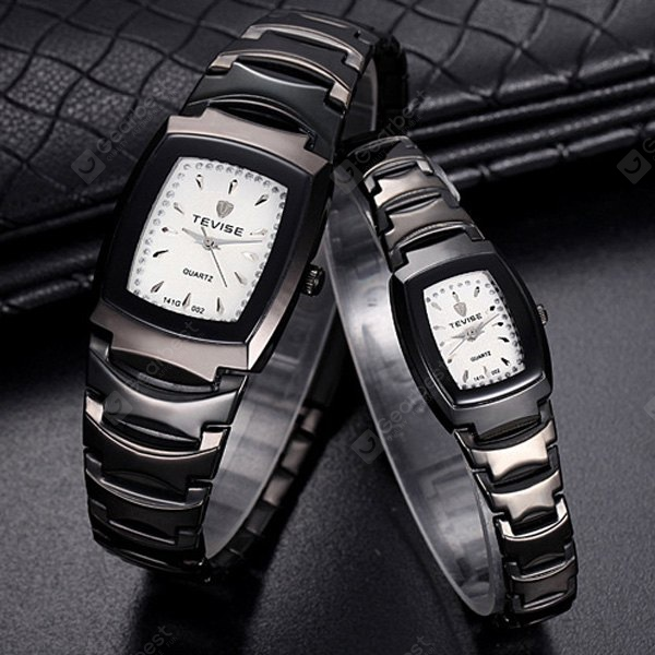 Tevise Quartz Watch Business Wristwatch Stainless Steel Strap for Couple