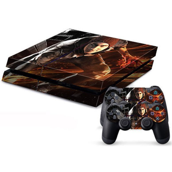 Cool Man Style Game Console and Handle Protection Stickers Skin Decal for PS4