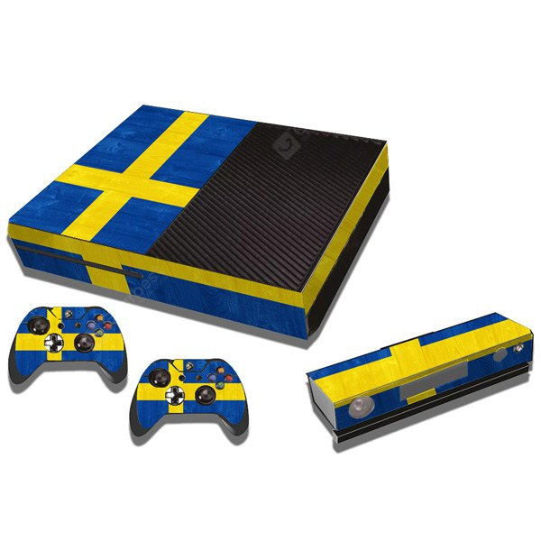 Sweden Flag Pattern Style Game Console Gamepad Decal Sticker for Xbox One