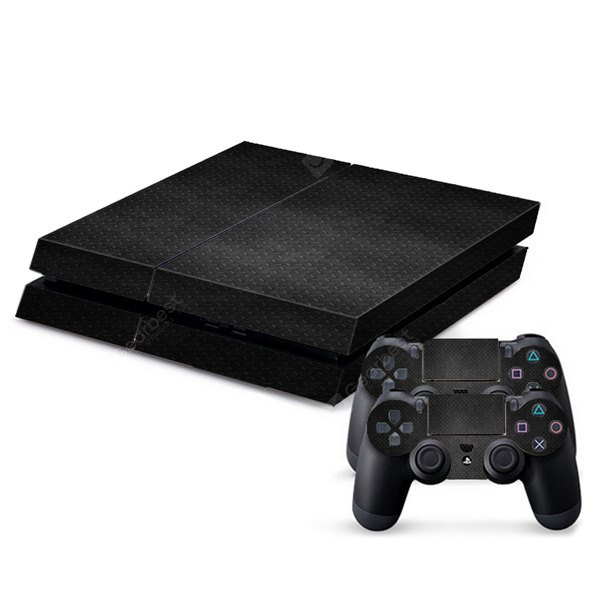 Protective Game Player and Controller Skin Sticker with Steel Floor Pattern for Sony PlayStation 4 123539901