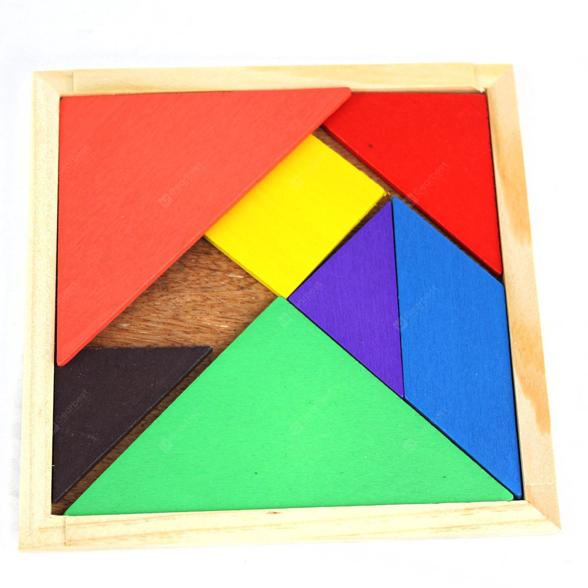 Educational Wooden Tangram Toy Simple Jigsaw Puzzle for Animal Boat Human