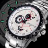 Weiqin Functional Sub - dial Sports Racing Watch with Steel Band Calender Stopwatch for Men