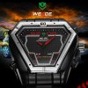 WEIDE LED + Quartz Steel Band Watch for Man