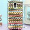 Buy Stylish Minority Style Triangle Pattern TPU PU Material Back Cover Case Samsung Galaxy S5 i9600 SM - G900 COLORFUL