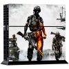 cheap Battleground Soldier Style Game Console and Handle Protection Stickers Skin Decal for PS4