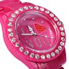Women Quartz Watch with Diamond Round Dial  -  I LOVE YOU deal