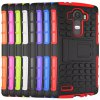 cheap Stand Design TPU and PC Material Tire Pattern Protective Back Cover Case for LG G4