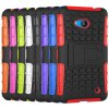 Stand Design TPU and PC Material Tire Pattern Protective Back Cover Case for Microsoft Lumia 640 photo