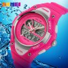 Skmei 1055 Dual Time LED Watch Water Resistant Day Date Alarm Children Wristwatch deal