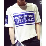 Buy White Loose-Fitting Letters Hot Stamping Round Neck Short Sleeves Men's Cotton Blend T-Shirt-22.95 Online Shopping GearBest.com