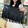 Fashionable Solid Color and Fringe Design Women's Crossbody Bag deal