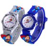 Buy Analog Quartz Watch Super - man Design Rubber Band Children GRAY