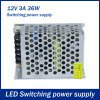 best 36W DC 12V 3A Switching Power Supply Driver for LED Strip Light
