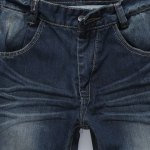 best Simple Zipper Fly Pocket and Ruffles Embellished Slimming Bleach Wash Straight Leg Men's Jeans