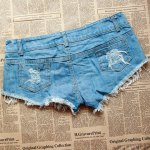 Stylish Low-Waisted Flag Print Women's Shorts deal