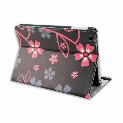 Фотография Stand Design Five Leaf Grass Pattern Cover Case of PU and PC Material for iPad mini