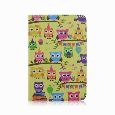 ФОТО Stand Design Owl Pattern Cover Case of PU and PC Material for iPad mini
