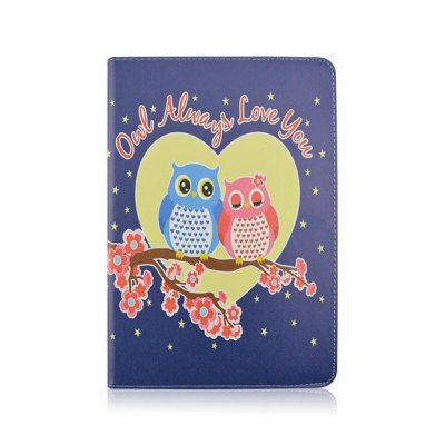 Stand Design Owl Pattern Cover Case of PU and PC Material for iPad Air 2