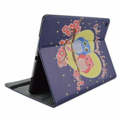 Фотография Stand Design Owl Pattern Cover Case of PU and PC Material for iPad Air 2