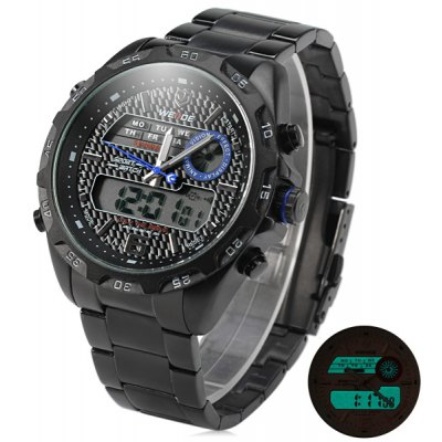 WEIDE WH-3403 LED Digital Quartz Double Movt Watch for Men
