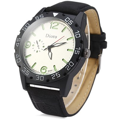 Dioro 8050 - 1 Decorative Sub - dials Luminous Quartz Watch Leather Band for MenMens Watches<br>Dioro 8050 - 1 Decorative Sub - dials Luminous Quartz Watch Leather Band for Men<br><br>Brand: Dioro<br>Watches categories: Male table<br>Watch style: Fashion<br>Available color: Multi-color, Black, Brown<br>Movement type: Quartz watch<br>Shape of the dial: Round<br>Display type: Analog<br>Case material: Stainless steel<br>Band material: Leather<br>Clasp type: Pin buckle<br>Special features: Decorating small sub-dials<br>The dial thickness: 1.2 cm / 0.47 inches<br>The dial diameter: 4.7 cm / 1.85 inches<br>The band width: 2.2 cm / 0.87 inches<br>Product weight: 0.064 kg<br>Package weight: 0.114 kg<br>Product size (L x W x H): 26.2 x 4.7 x 1.2 cm / 10.30 x 1.85 x 0.47 inches<br>Package size (L x W x H): 27.2 x 5.7 x 2.2 cm / 10.69 x 2.24 x 0.86 inches<br>Package Contents: 1 x Dioro Watch